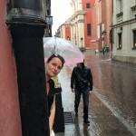 I bland när det regnar...
